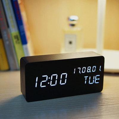 多功能LED木块闹钟