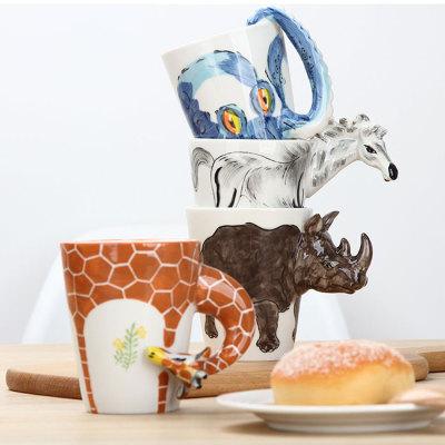 3D手绘动物马克杯